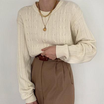 Vintage Oscar de la Renta Buttermilk Sweater