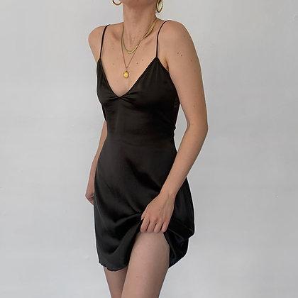 Vintage DVF Espresso Silk Slip Dress