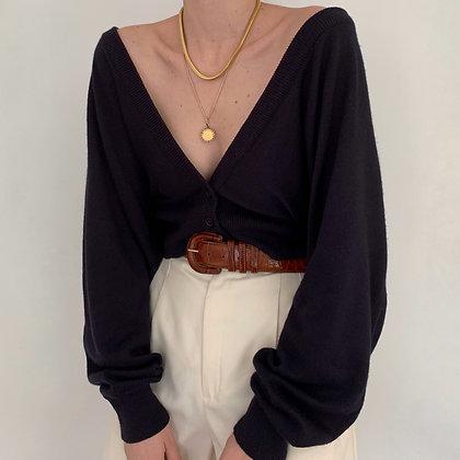 Favorite Vintage Indigo Knit Cardigan