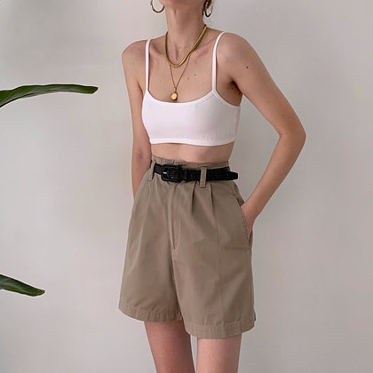 Vintage Taupe High-Waisted Shorts (27W)