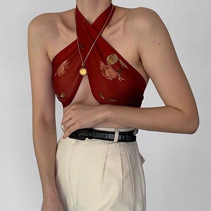 Deadstock Vintage Ralph Lauren Floral Silk Scarf