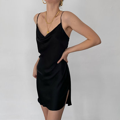 Vintage Victoria's Secret Noir Silk Slip Dress