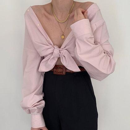 Vintage YSL Blush Button Up Blouse