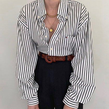 Vintage Tommy Hilfiger Striped Button Up