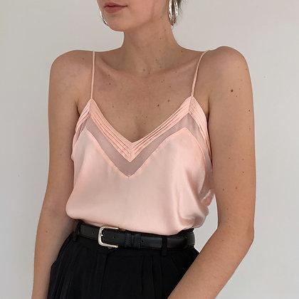 Vintage Blush Pink Liquid Silk Camisole
