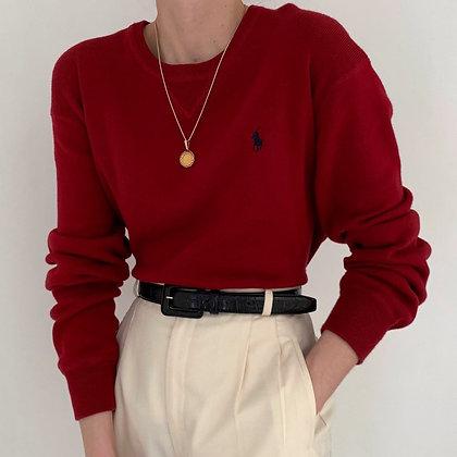 Vintage Ralph Lauren Garnet Knit Sweater