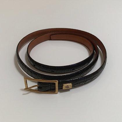 Vintage Ralph Lauren Noir Leather Belt