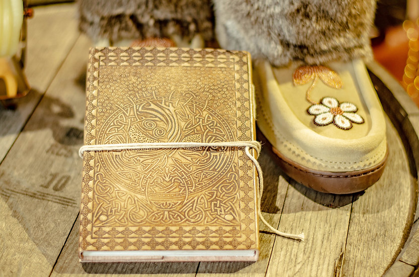 Tree of Life Blonde Leather Journal