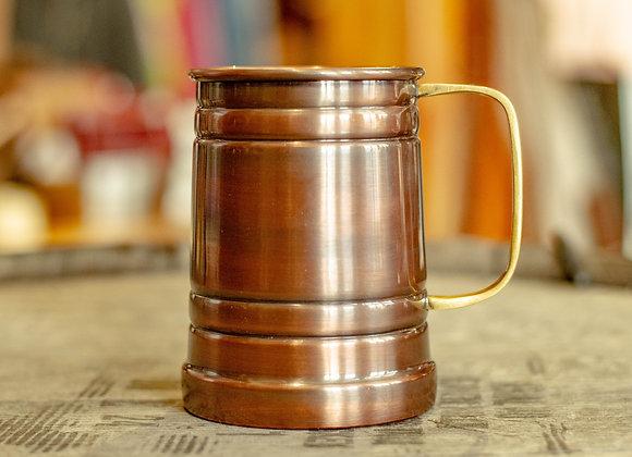 Copper Tankard Mug with Brass Handle