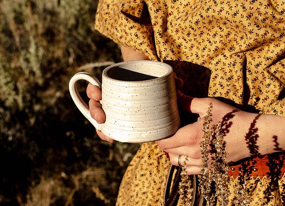 Cream Speckled Camp Mug