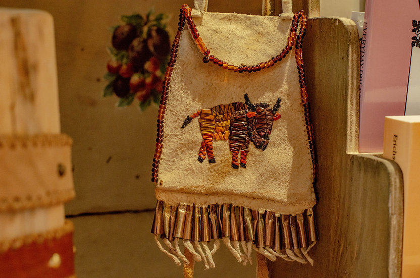 Quilled Buffalo Bag