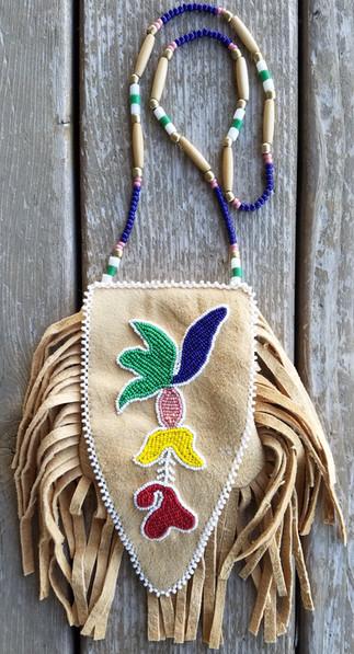 Prairie Style Beaded Ottertail Medicine Bag