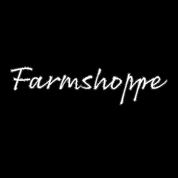Farmshoppe writing in white