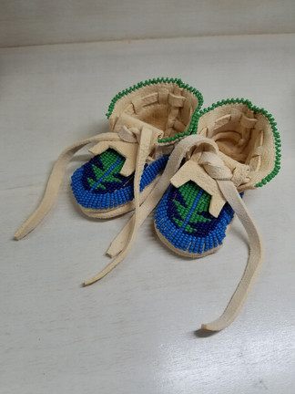 Beaded Baby Moccasins Geometric Design