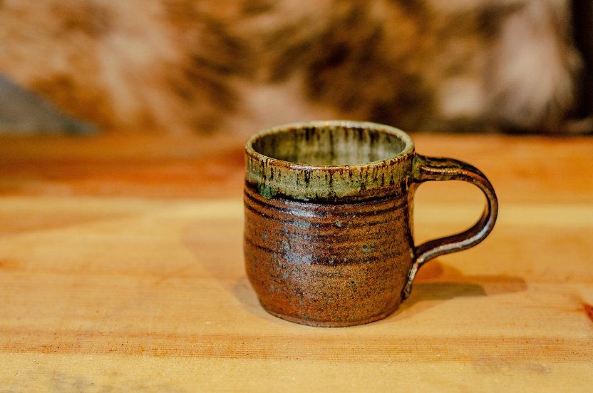 8oz Brown/green mug