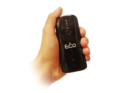 מטען נייד Eco Power Bank עם כבל נגלל מובנה