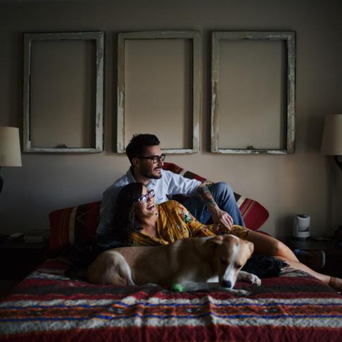 Madison + Eric | Engagement | Home Session