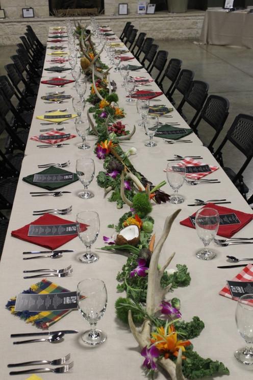 wild game dinner setting