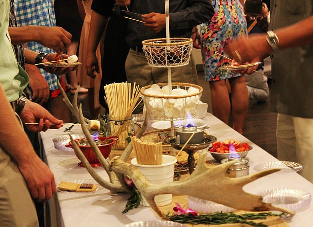 S'mores bar in action