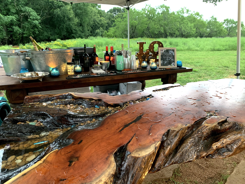 gorgeous bar setup