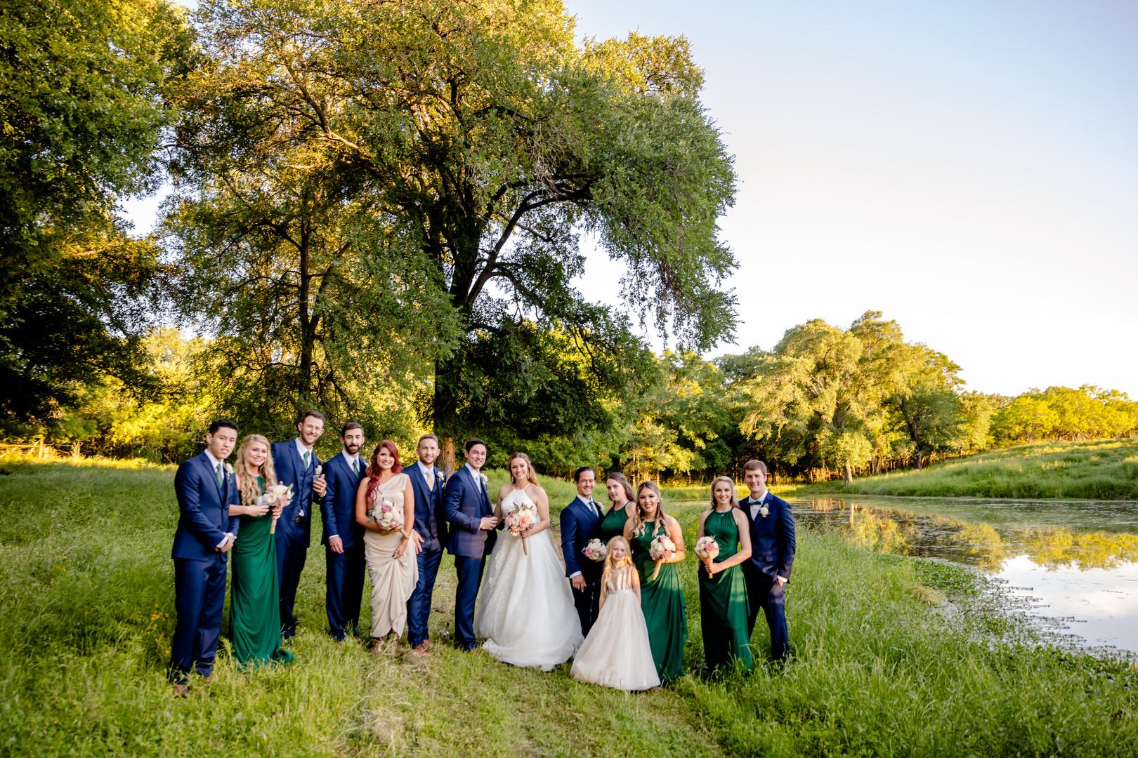 bridals around the pond