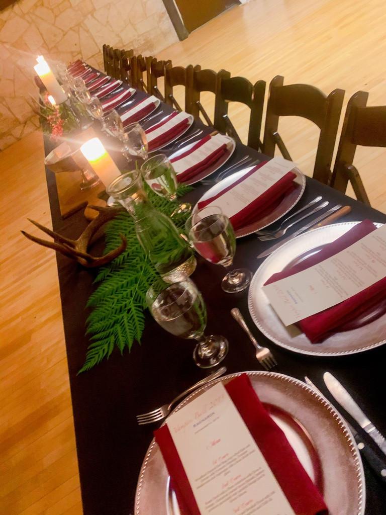 festive dinner setting