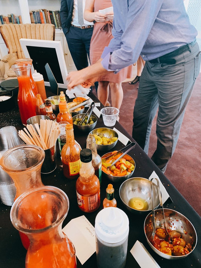 Bloody mary bar in action