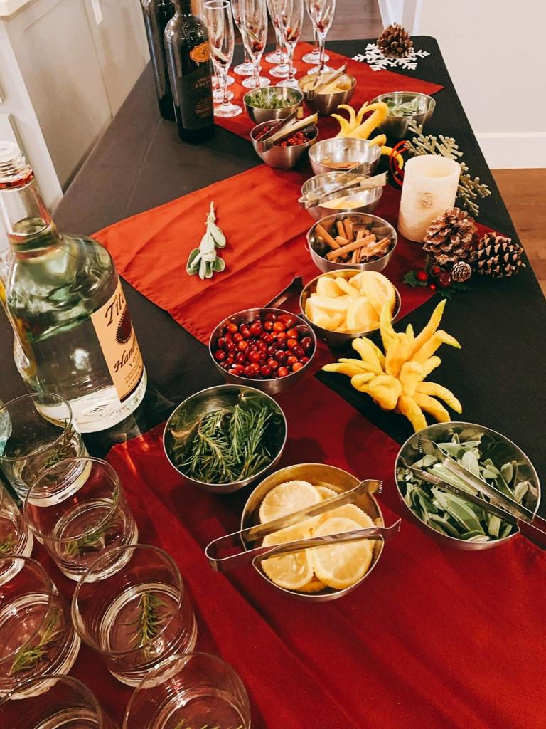 Holiday Cocktails Topper Bar