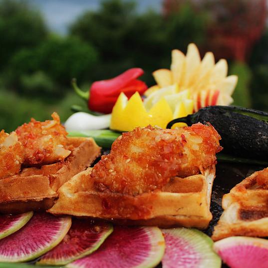 Hot & Crunchy Chicken & Waffles