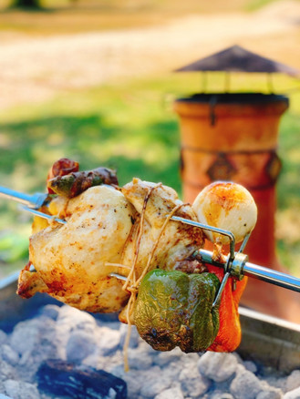 chicken over the spit grill