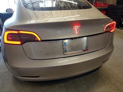 """Model 3 EVANNEX lighted Tesla """"T"""" emblem"""