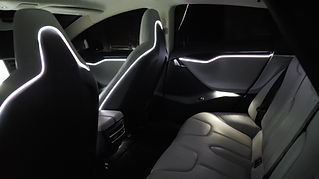 Model S Fiber Optic Lighting Installation