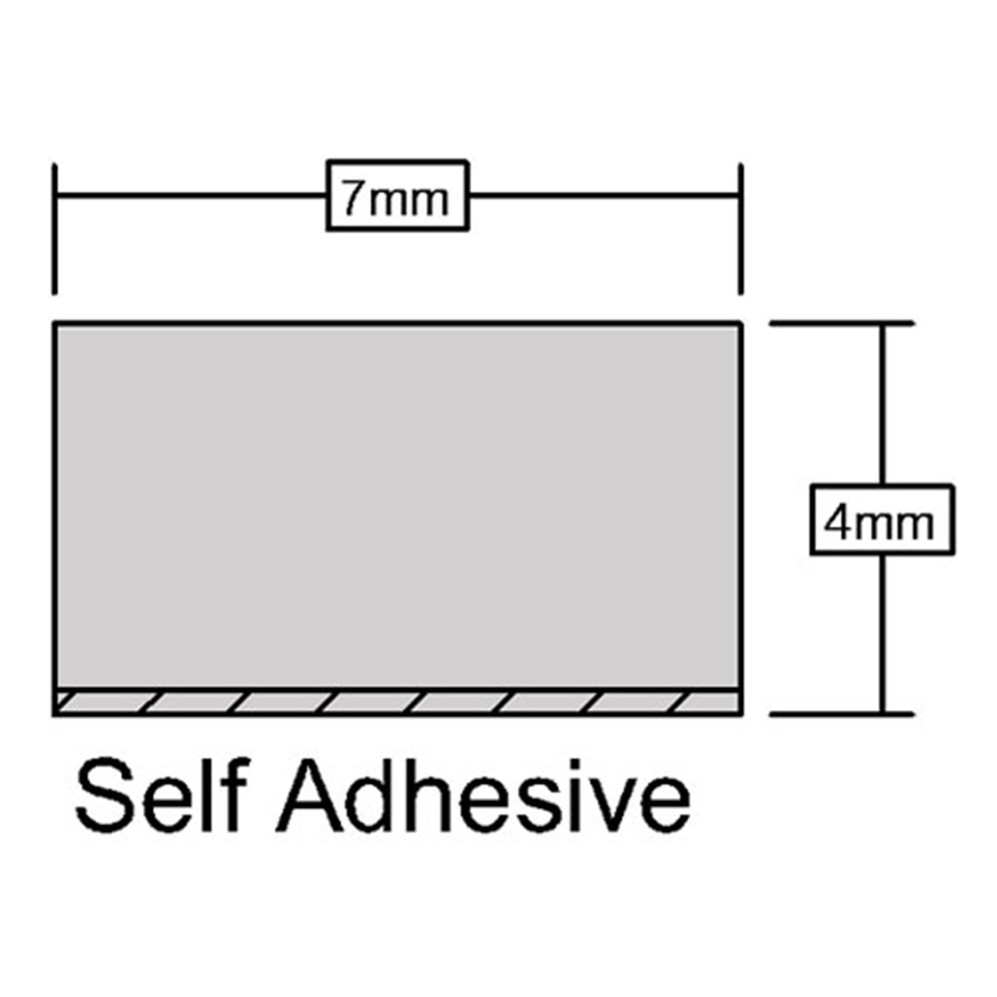 Self Adhesive Foam Seal Measurements