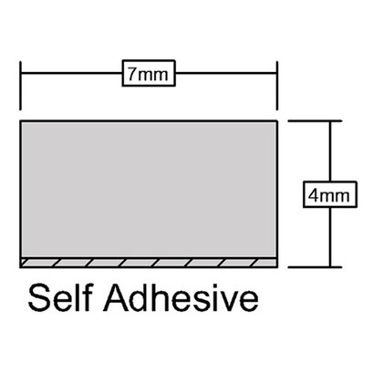 Self Adhesive Foam Seal Measurements