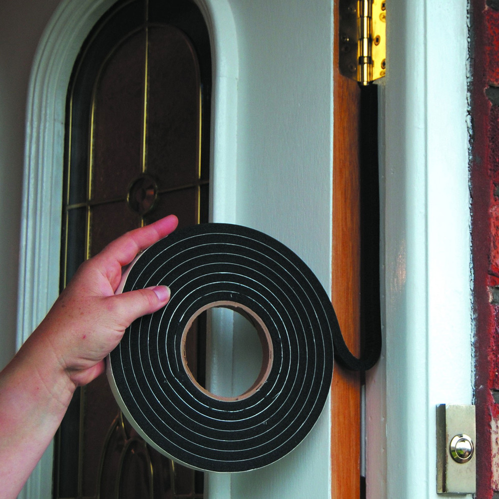 Stormguard Extra Thick Weather Strip Black Install Picture