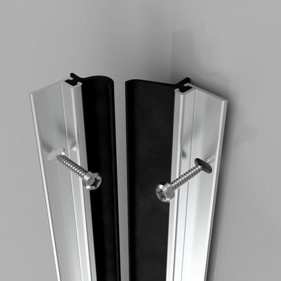 Heavy Duty Around The Door Seal Aluminium
