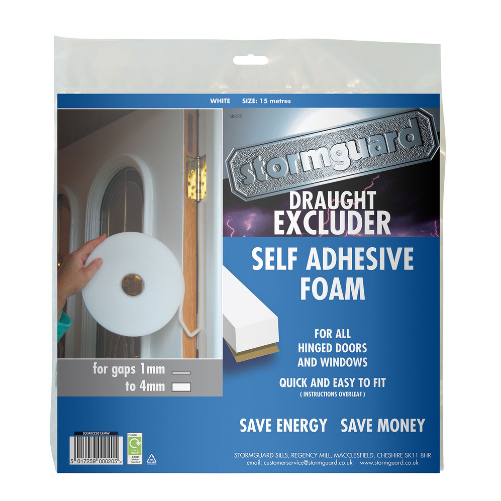 Self Adhesive Foam Seal White Pack