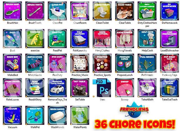 Starlog Chore Icon Pack