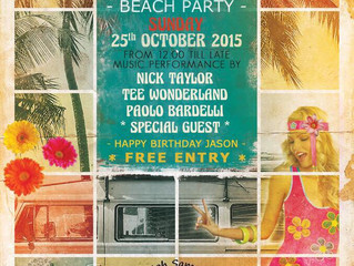 Beach Party @ Treehouse 25th october