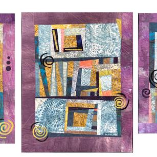 """Sea Glass 1-3""  by Suzanne O'Brien: (Triptych)"