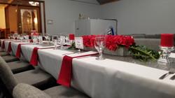 Private Dinner Setup Red Center