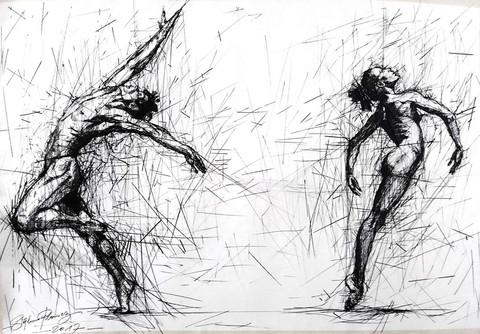 Danseurs (d'après Richard Avedon)