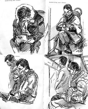 Croquis dans le métro