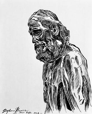 Bourgeois de Calais (d'après Rodin)