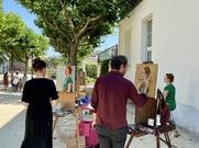 Peinture en plein air avec Kamelia