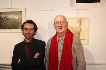 Avec le graveur J.P. Javogues