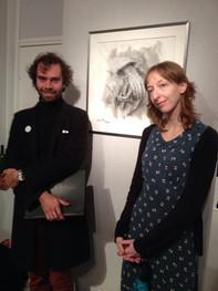 Avec Amalia au Salon d'Automne