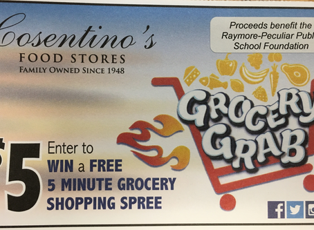 GROCERY GRAB IS BACKKKKKKKKK - and there are FIVE chances to WIN!!!!!