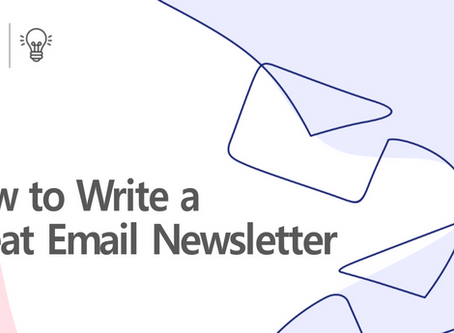 How To Write A Great Email Newsletter