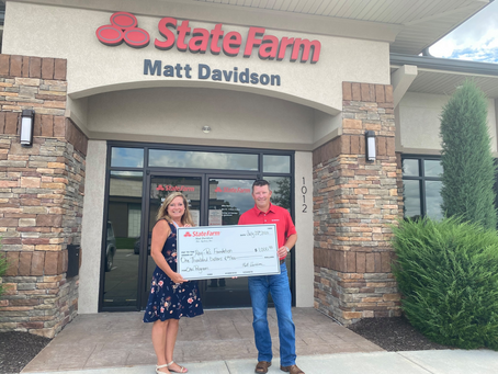 Matt Davidson State Farm donates $1,000 to support the Caring About Nutrition (CAN) program!